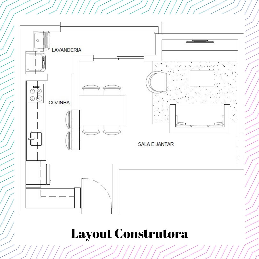 Layout sugerido pela construtora